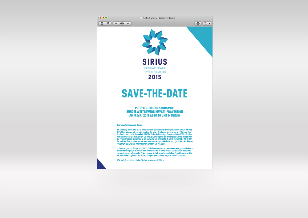 Sirius savethedate